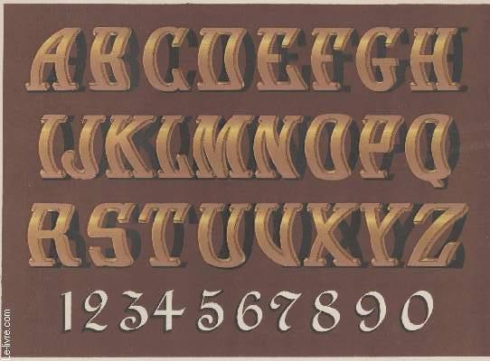 GRAVURE 19eme COULEURS - MONSTRE PLANCHE N�11 -