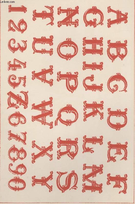 GRAVURE 19eme COULEURS -LA DECORATION ARTISTIQUE - 6° ANNEE - PLANCHE 30