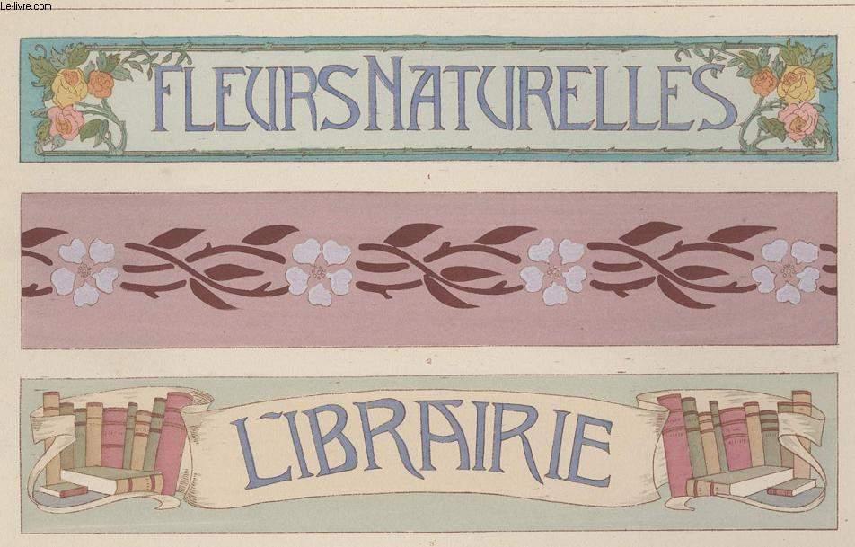 GRAVURE 19eme COULEURS - LA DECORATION ARTISTIQUE - 1° ANNEE - PLANCHE 46