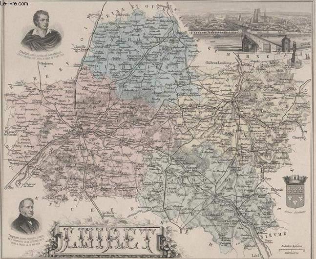 GRAVURE 19eme COULEURS - LA FRANCE - LOIRET - PLANCHE N°44