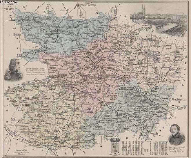 GRAVURE 19eme COULEURS - LA FRANCE - MAINE ET LOIRE - PLANCHE N°48