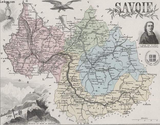 GRAVURE 19eme COULEURS - LA FRANCE - SAVOIE - PLANCHE N°71 BIS