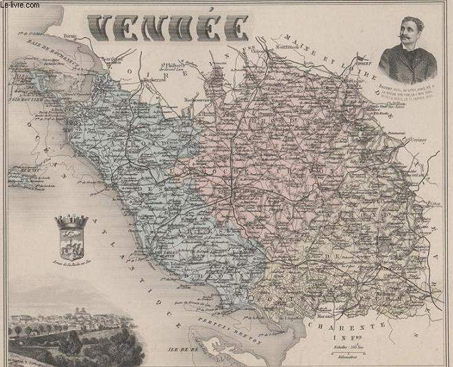 GRAVURE 19eme COULEURS - LA FRANCE - VENDEE - PLANCHE N°82