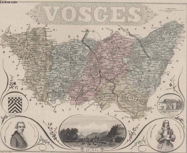 GRAVURE 19eme COULEURS - LA FRANCE - VOGES - PLANCHE N°83