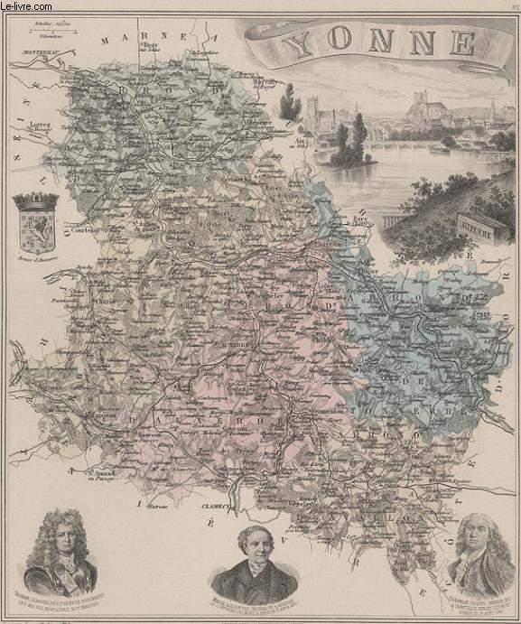 GRAVURE 19eme COULEURS - LA FRANCE - YONNE - PLANCHE N°86