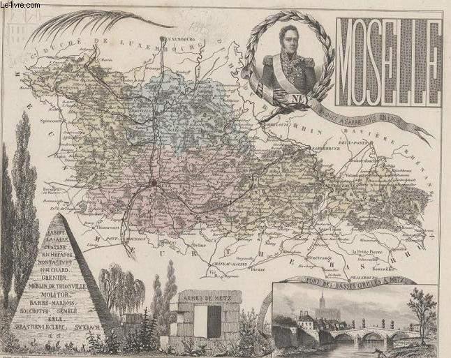 GRAVURE 19eme COULEURS - LA FRANCE - MOSELLE - PLANCHE N°56