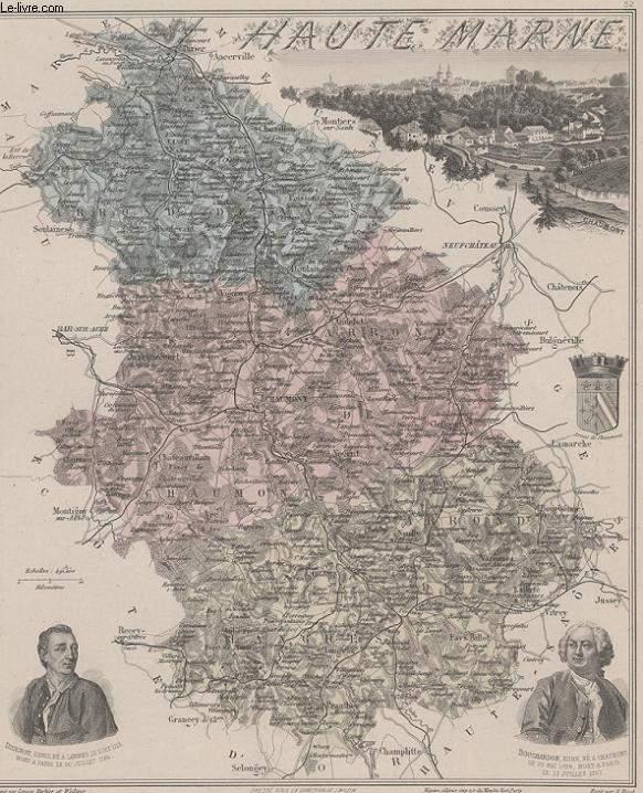 GRAVURE 19eme COULEURS - LA FRANCE - HAUTE MARNE - PLANCHE N�51