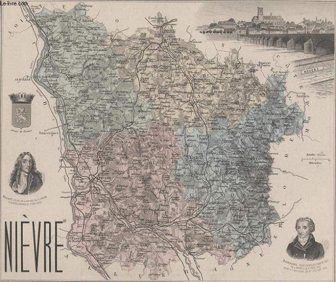 GRAVURE 19eme COULEURS - LA FRANCE - NIEVRE - PLANCHE N°57
