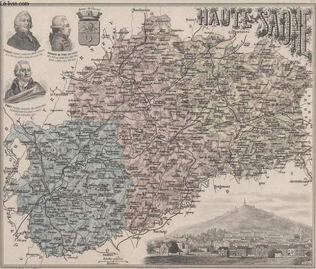 GRAVURE 19eme COULEURS - LA FRANCE - HAUTE SAVOIE - PLANCHE N°69