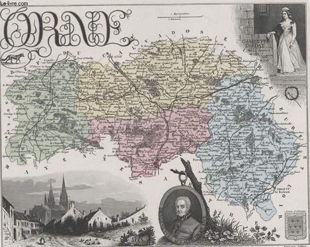 GRAVURE 19eme COULEURS - LA FRANCE - ORNE - PLANCHE N°60