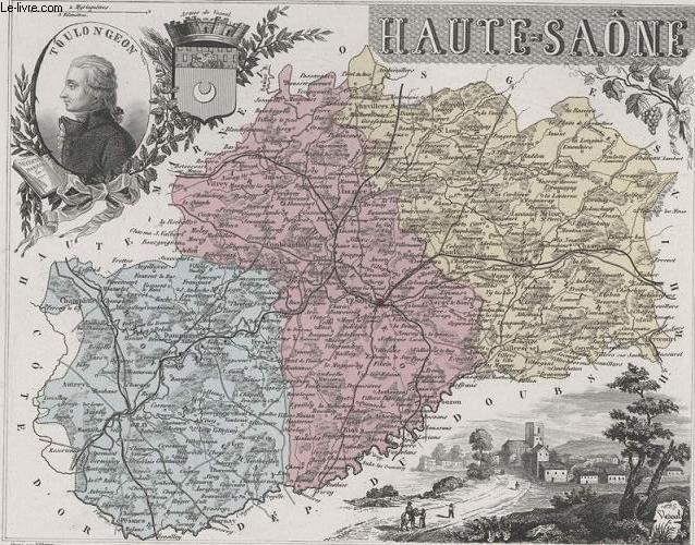 GRAVURE 19eme COULEURS - LA FRANCE - HAUTES-SAONE - PLANCHE N°69