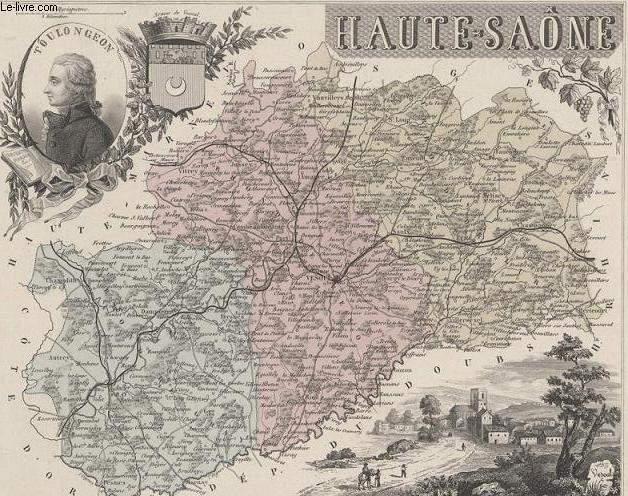 GRAVURE 19eme COULEURS - LA FRANCE - HAUTE SAONE - PLANCHE N°69