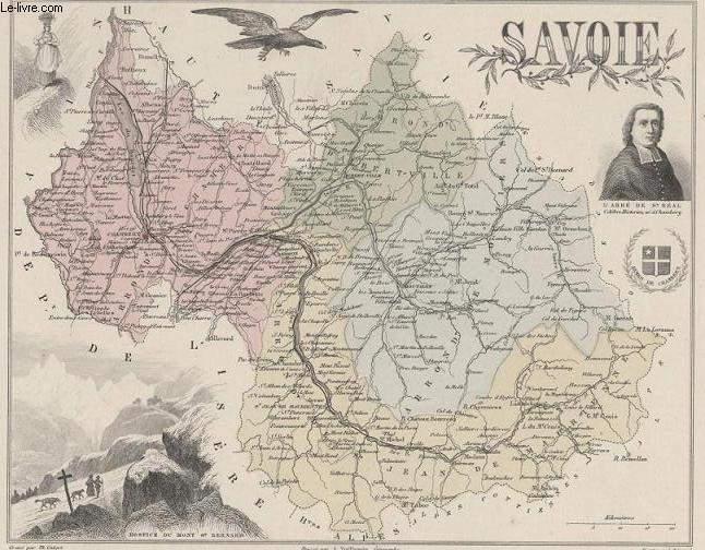 GRAVURE 19eme COULEURS - LA FRANCE - SAVOIE -