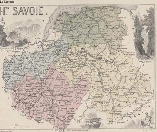 GRAVURE 19eme COULEURS - LA FRANCE - HAUTE SAVOIE