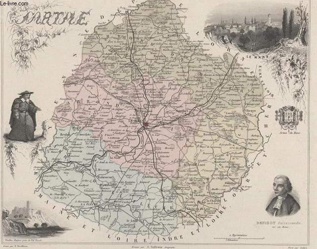 GRAVURE 19eme COULEURS - LA FRANCE - MARNE - PLANCHE N°71