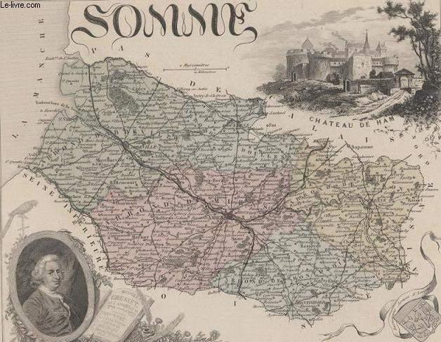 GRAVURE 19eme COULEURS - LA FRANCE - SOMME - PLANCHE N°77
