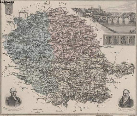 GRAVURE 19eme COULEURS - LA FRANCE - TARN - PLANCHE N°78