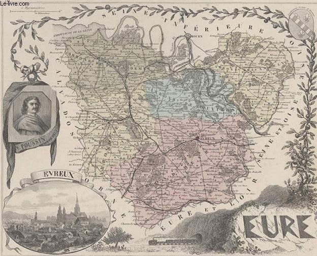 GRAVURE 19eme COULEURS - LA FRANCE - EURE - PLANCHE N°26