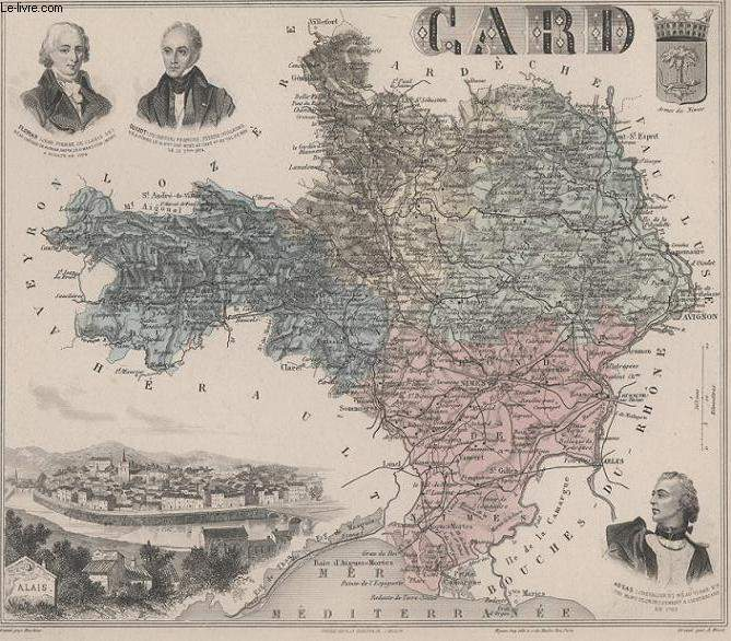 GRAVURE 19eme COULEURS - LA FRANCE - CARD - PLANCHE N°29