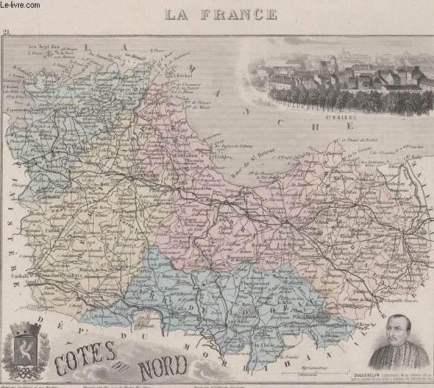 GRAVURE 19eme COULEURS - LA FRANCE - COTE DU NORD - PLANCHE N°21