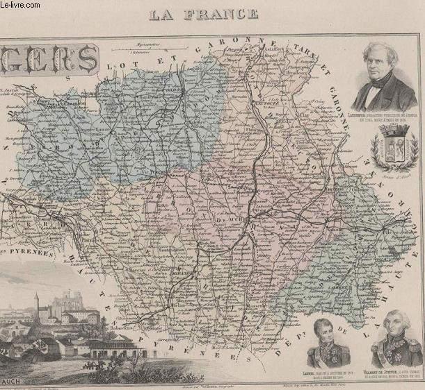 GRAVURE 19eme COULEURS - LA FRANCE - CERS - N°31