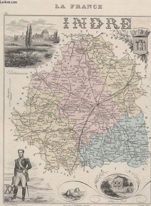 GRAVURE 19eme COULEURS - LA FRANCE INDRE N°33