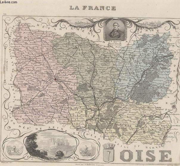 GRAVURE 19eme COULEURS - LA FRANCE - LOISE - N°59