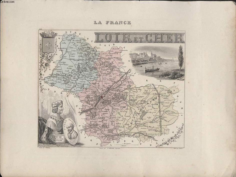 GRAVURE 19eme COULEURS - LA FRANCE - LOIR ET CHER
