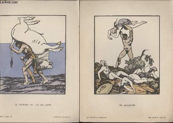 GRAVURES 20eme - LES TRAVAUX D'HERCULE