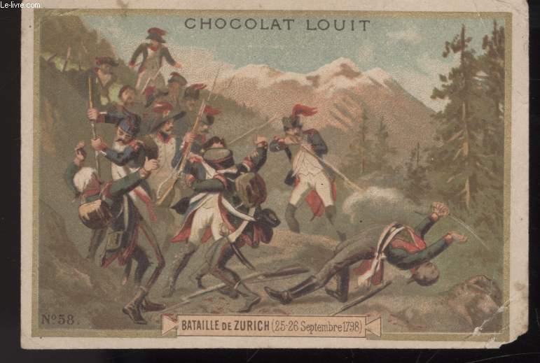 CHROMOLITHOGRAPHIE - BATAILLE DE ZURICH (25-26 SEPTEMBRE 1798)