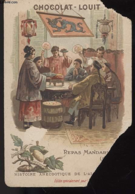 CHROMOLITHOGRAPHIE - REPAS MANDARIN