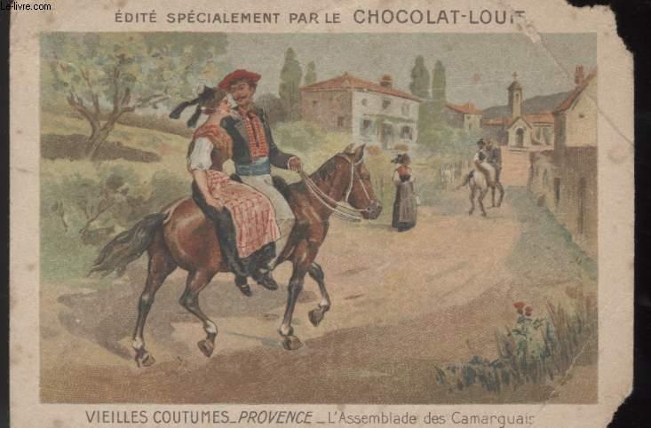 CHROMOLITHOGRAPHIE - VIEILLES COUTUMES - PROVINCE - L'ASSEMBLADE DES CAMARGUAIS