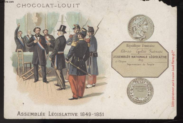 CHROMOLITHOGRAPHIE - ASSEMBLEE LEGISLATIVE 1849-1851