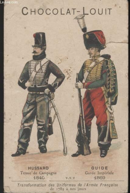 CHROMOLITHOGRAPHIE - TRANSFORMATION DES UNIFORMES DE L'ARMEE FRANCAISE DE 1789 A NOS JOURS