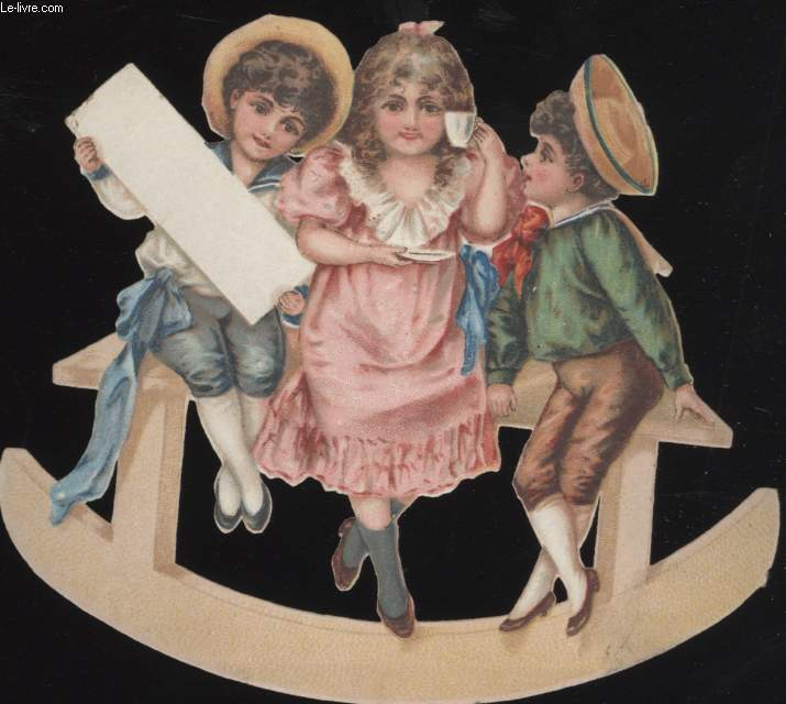 CHROMOLITHOGRAPHIE - ENFANTS TABLE A BASCULE