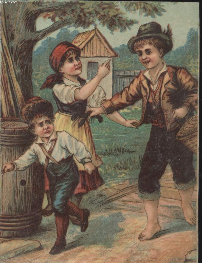 CHROMOLITHOGRAPHIE -  ENFANTS JOUANT