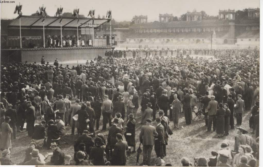 PHOTO ANCIENNE SITUEE - HIPPODROME DE LONGCHAMP