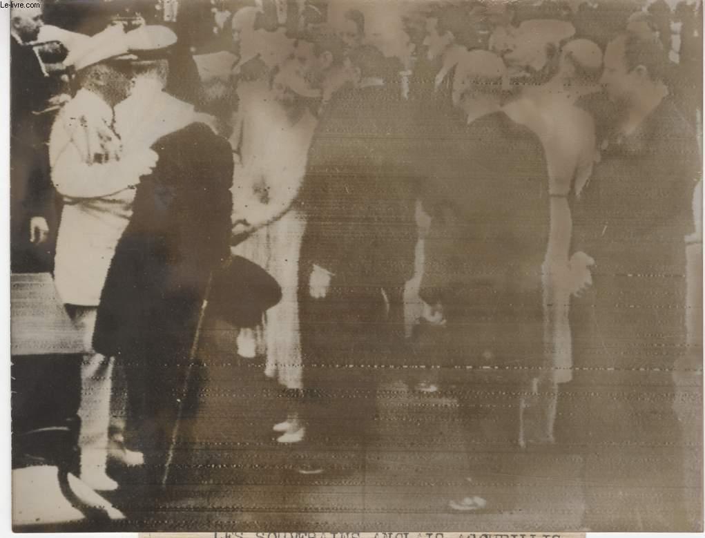 PHOTO ANCIENNE SITUEE - LES SOUVERAINS ANGLAIS ACCUEILLIS A NEW YORK