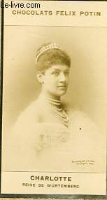 PHOTO ANCIENNE   CHARLOTTE REINE DE WURTEMBERG