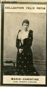 PHOTO ANCIENNE MARIE-CHRISTINE REINE REGENTE D'ESPAGNE