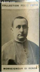 PHOTO ANCIENNE MONSEIGNEUR DI RENDE CLERGE D'ITALIE