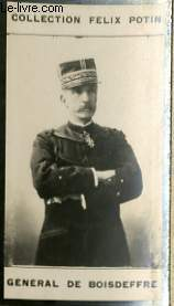 PHOTO ANCIENNE GENERAL DE BOISDEFFRE ARMEE ET MARINE DE FRANCE
