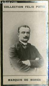 PHOTO ANCIENNE MARQUIS DE MORES EXPLORATEUR DE FRANCE