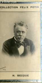 PHOTO ANCIENNE H. BECQUE HOMME DE LETTRES DE FRANCE