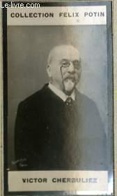 PHOTO ANCIENNE VICTOR CHERBULIEZ HOMME DE LETTRES DE FRANCE