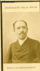 PHOTO ANCIENNE EDMOND HARAUCOURT HOMME DE LETTRES DE FRANCE