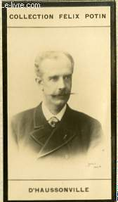PHOTO ANCIENNE D'HAUSSONVILLE HOMME DE LETTRES DE FRANCE