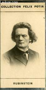 PHOTO ANCIENNE RUBINSTEIN MUSICIEN DE RUSSIE