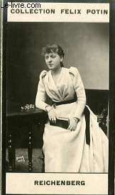 PHOTO ANCIENNE REICHENBERG REICHEMBERG) ARTISTE LYRIQUE ET DRAMATIQUE DE FRANCE
