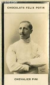 PHOTO ANCIENNE CHEVALIER PINI SPORT ESCRIME D'ITALIE